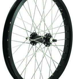 "49N 18"" ALLOY 3/8 FRT NUT 36H BLK Wheel"