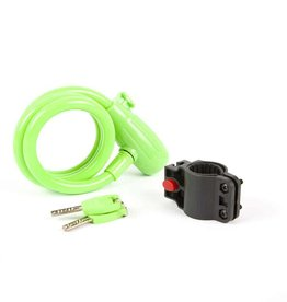 EVO, E-Force 12.4, Cable with key lock, Green, 12mm x 120cm (12mm x 4')