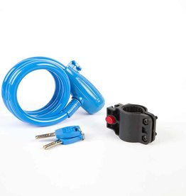 EVO, E-Force 12.4, Cable with key lock, Blue, 12mm x 120cm (12mm x 4')