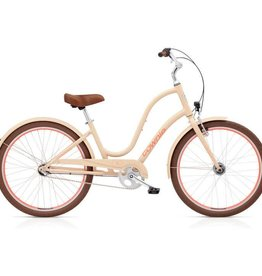 "Electra Townie Original 3i EQ Ladies Cream Nude 26"" - 2018"