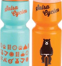 Salsa Waterbottle 26oz Orange with bear