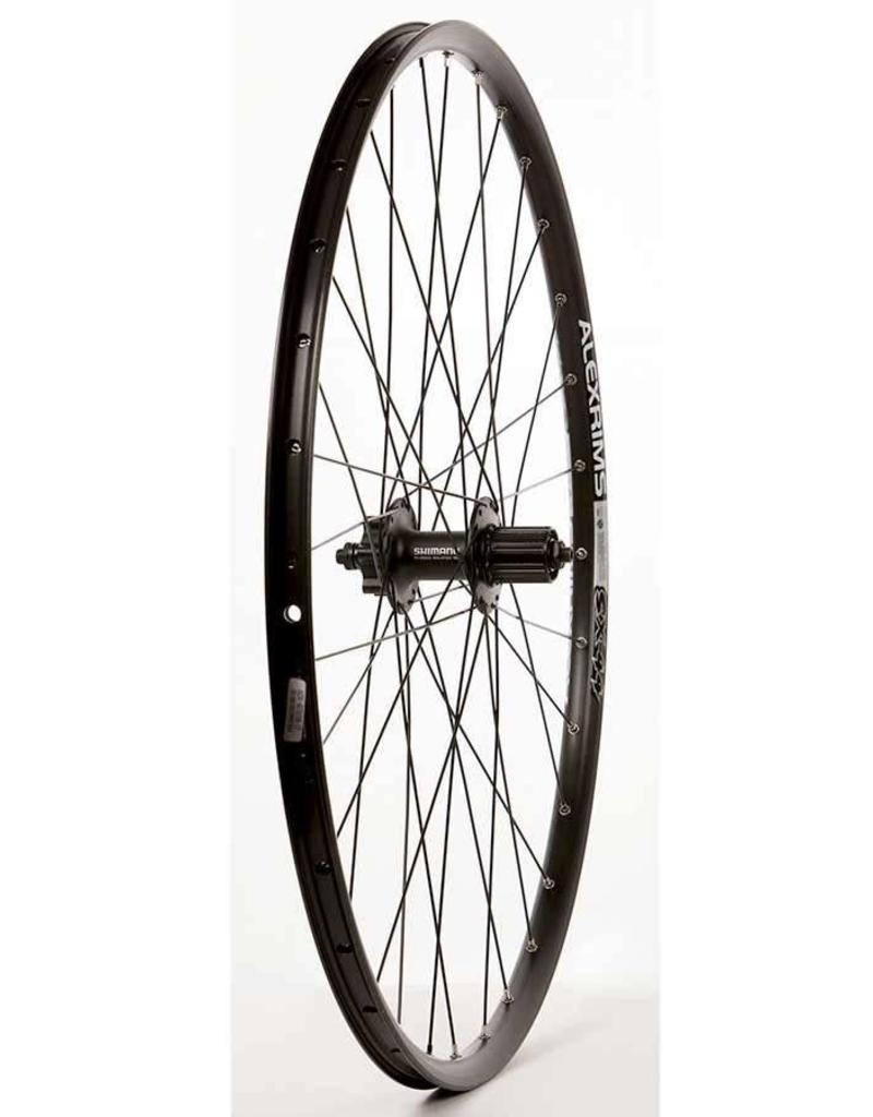 "Wheel Shop, Rear 29"" Wheel, 32H Black Ally Duble Wall Alex SX-44 Disc/ Black Shiman FH-M525 QR 8-10spd 6 Blt Disc Hub, DT Black Stainless Spkes"