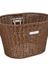 Basket Electra Plastic Woven Dark Brown