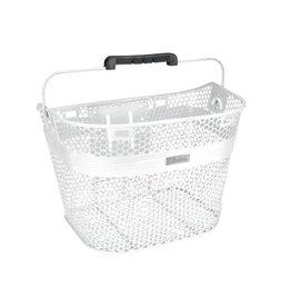 Basket Electra Linear QR Mesh Metallic Pearl White
