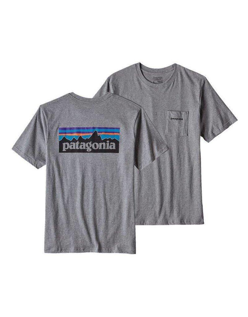 Patagonia Men's P-6 Logo Cotton Pocket T-Shirt