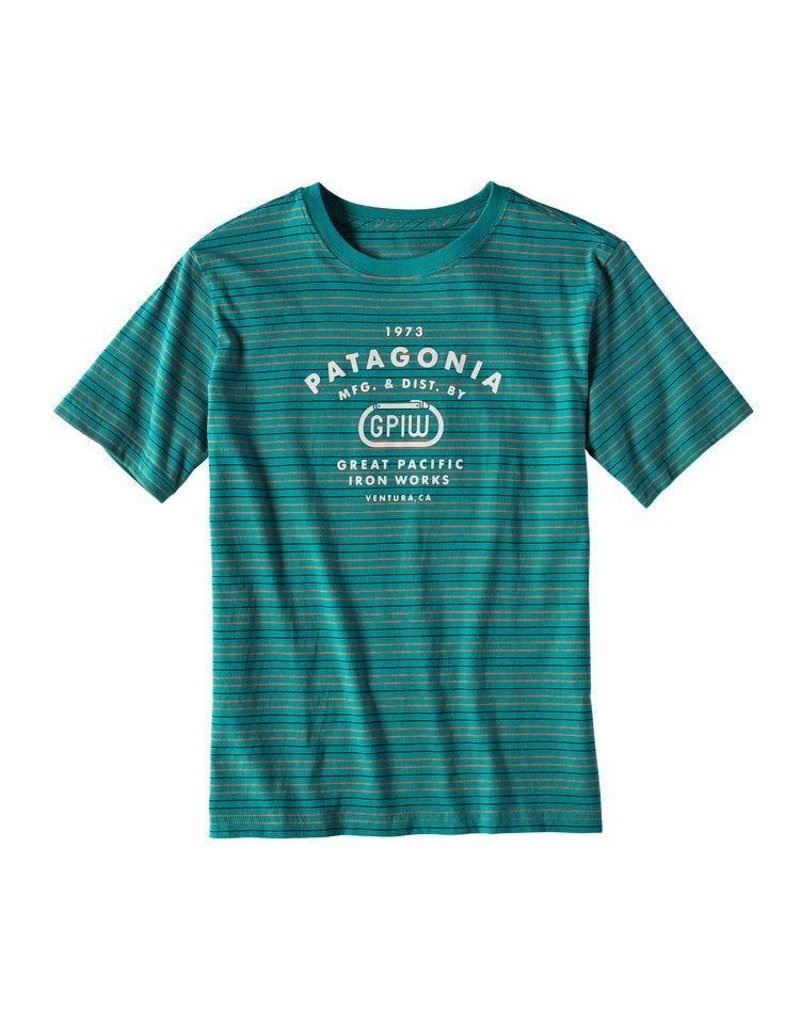 Patagonia Boys' Striped GPIW Biner Cotton T-Shirt