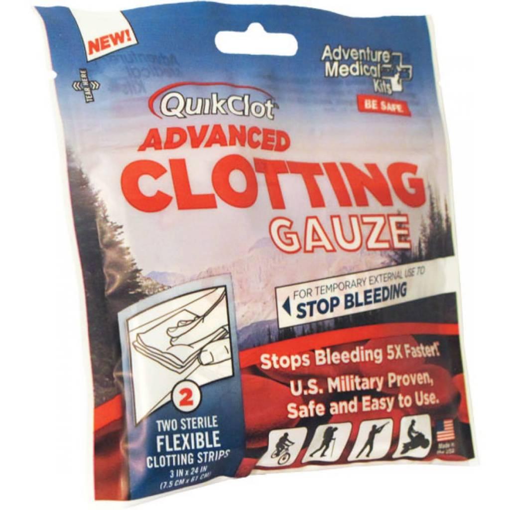 "Adventure Medical Kits QuikClot Advanced Clotting Gauze 3"" x 24"" (2 Pack)"
