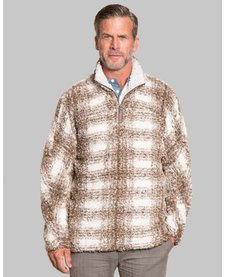 Big Plaid Frosty Tipped Pullover