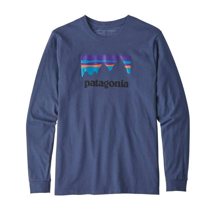 Patagonia Men's Long Sleeve Shop Sticker Responsibili-Tee