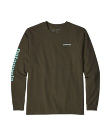 Men's Long-Sleeved Text Logo Responsibili-Tee