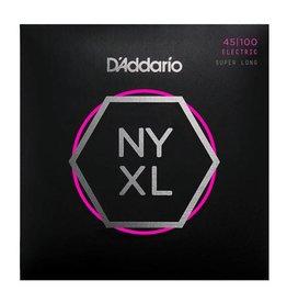 D'addario NYXL45100SL, Set Super Long Scale, Regular Light, 45-100