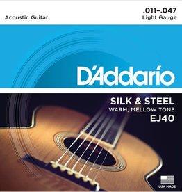 D'addario EJ40 Silk & Steel Folk Guitar, 11-47