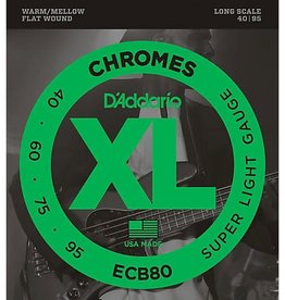 D'addario ECB80 Chromes Flat Wound Bass Strings