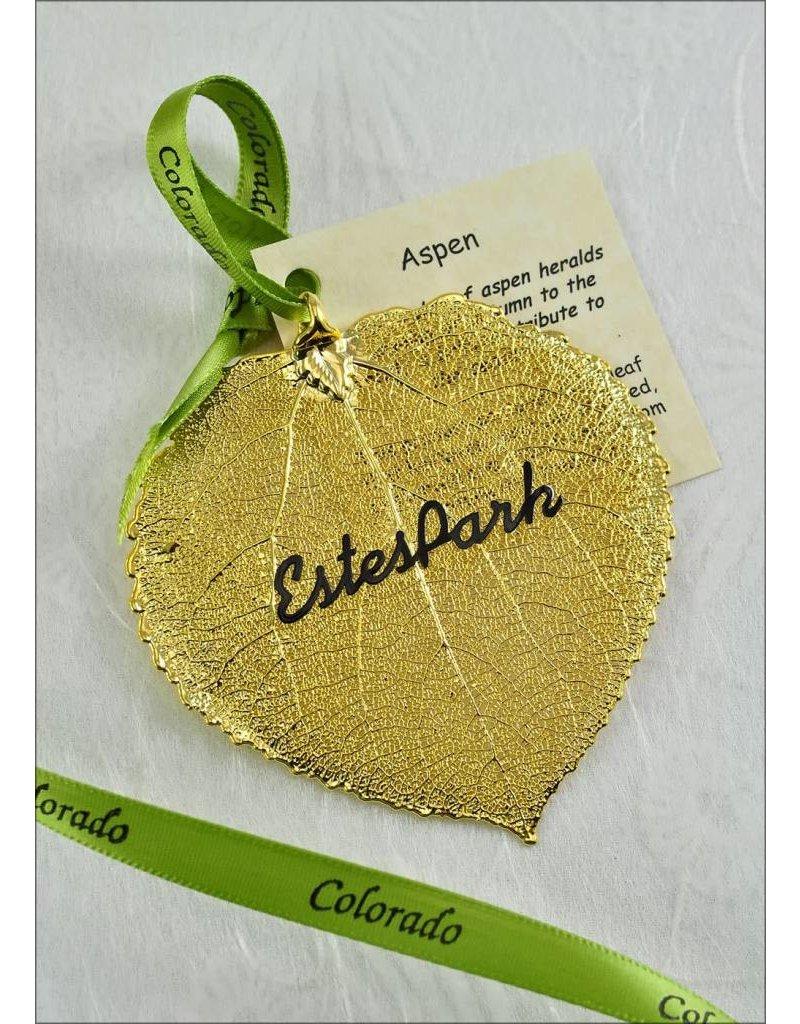 The Rose Lady Gold Estes Park Aspen Leaf