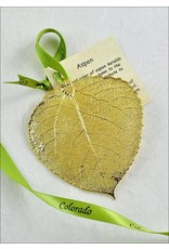 The Rose Lady Plain Gold Aspen Leaf