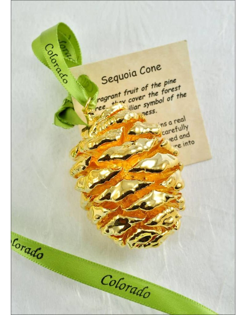 The Rose Lady Gold Pinecone