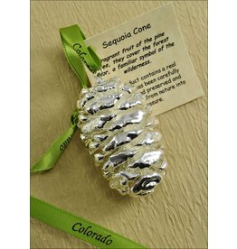 The Rose Lady Silver Pinecone