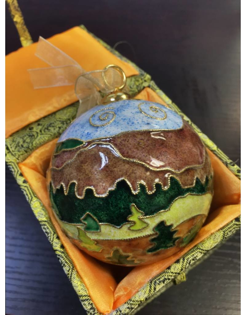 Kitty Keller Designs Centennial Colorado Cloisonne, 4th in Spruce House Exclusive Collection