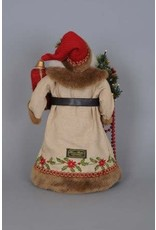 Karen Didion Lighted Woodland Embroidery Santa