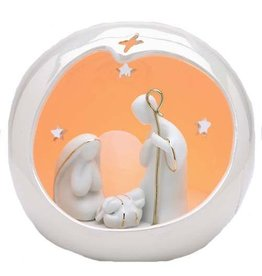 Appletree Small Globe Holy Family
