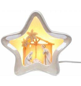 Appletree Star Shaped Nativity Night Light