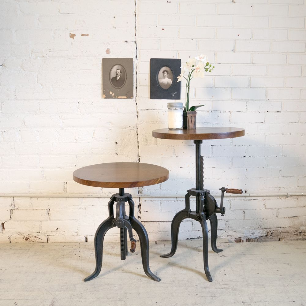 New Cast Iron Crank Side Table