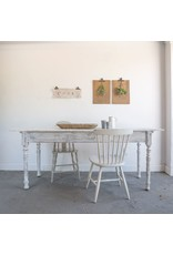 Found Distressed White Farmhouse Table