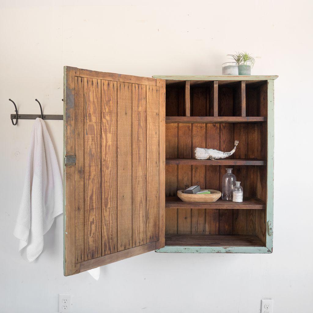 Found Antique Beadboard Jam Cupboard