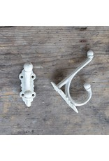 New Cast Iron Victorian Style Hook - White