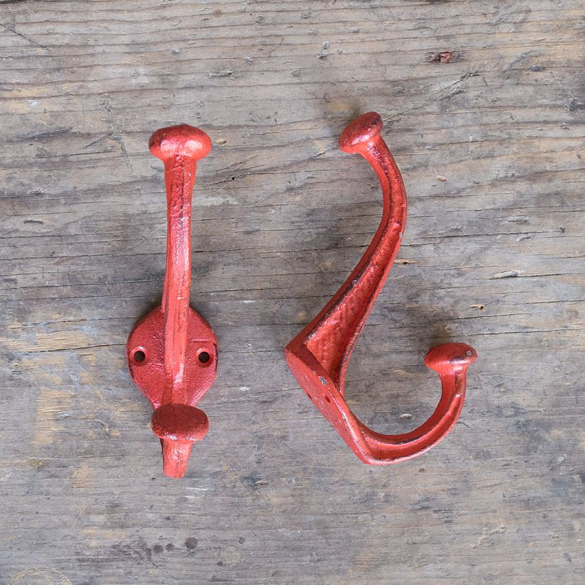 New Cast Iron Nora Hook - Red