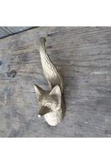 New Cast Brass Fox Hook