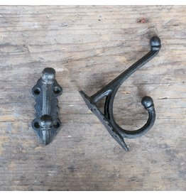 New Cast Iron Victorian Style Hook - Black