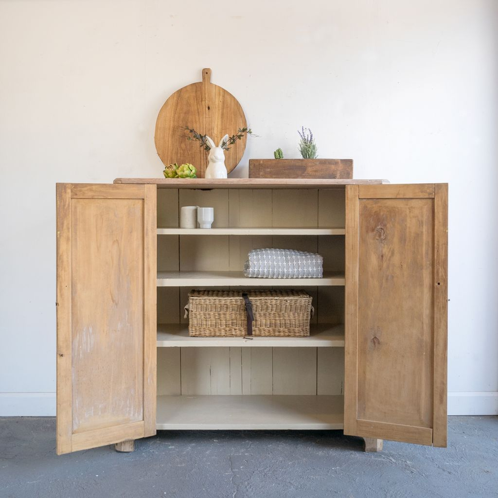 Found Pickled Pine Cupboard with Shelves