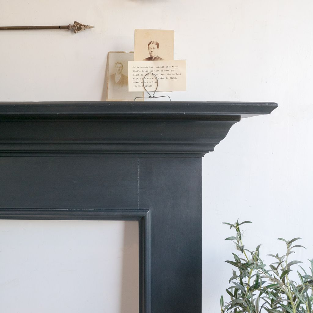 Found Salvaged Painted Mantle