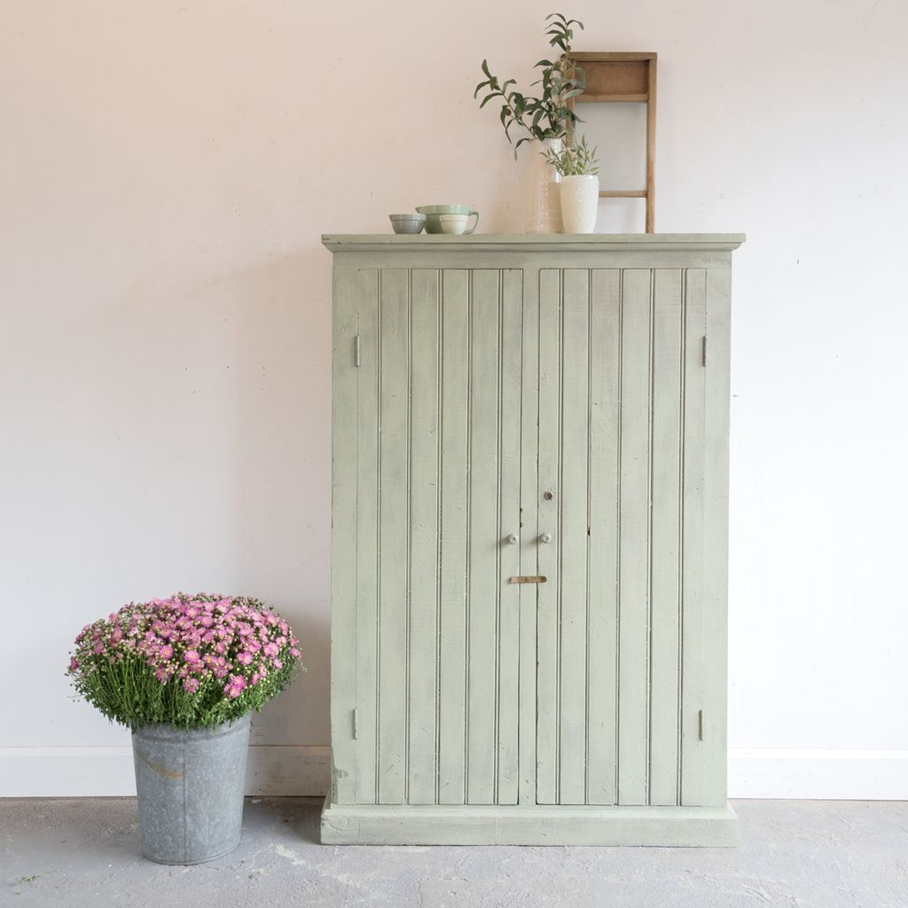 painted beadboard cabinet with shelves tin barn market