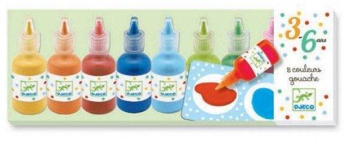 Djeco Djeco DJ08861 - 8 bouteilles de gouache