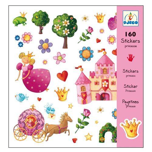 DJeco 08830 - 160 Princess stickers