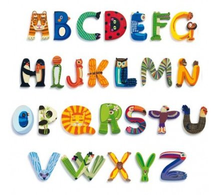 Djeco Djeco 04856 Q Wooden Letter Animals
