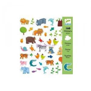 Djeco 08841 - 160 ARTS STICKER ANIMALS