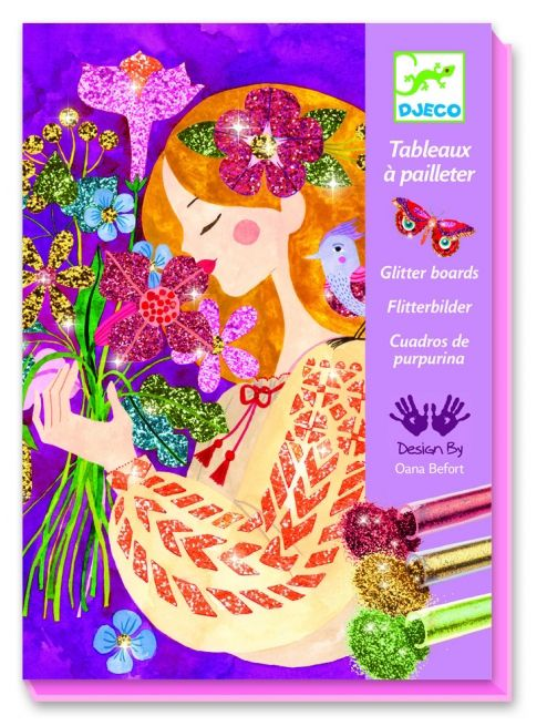 Djeco DJeco 09508 - Tableaux a pailleter le parfum des fleurs