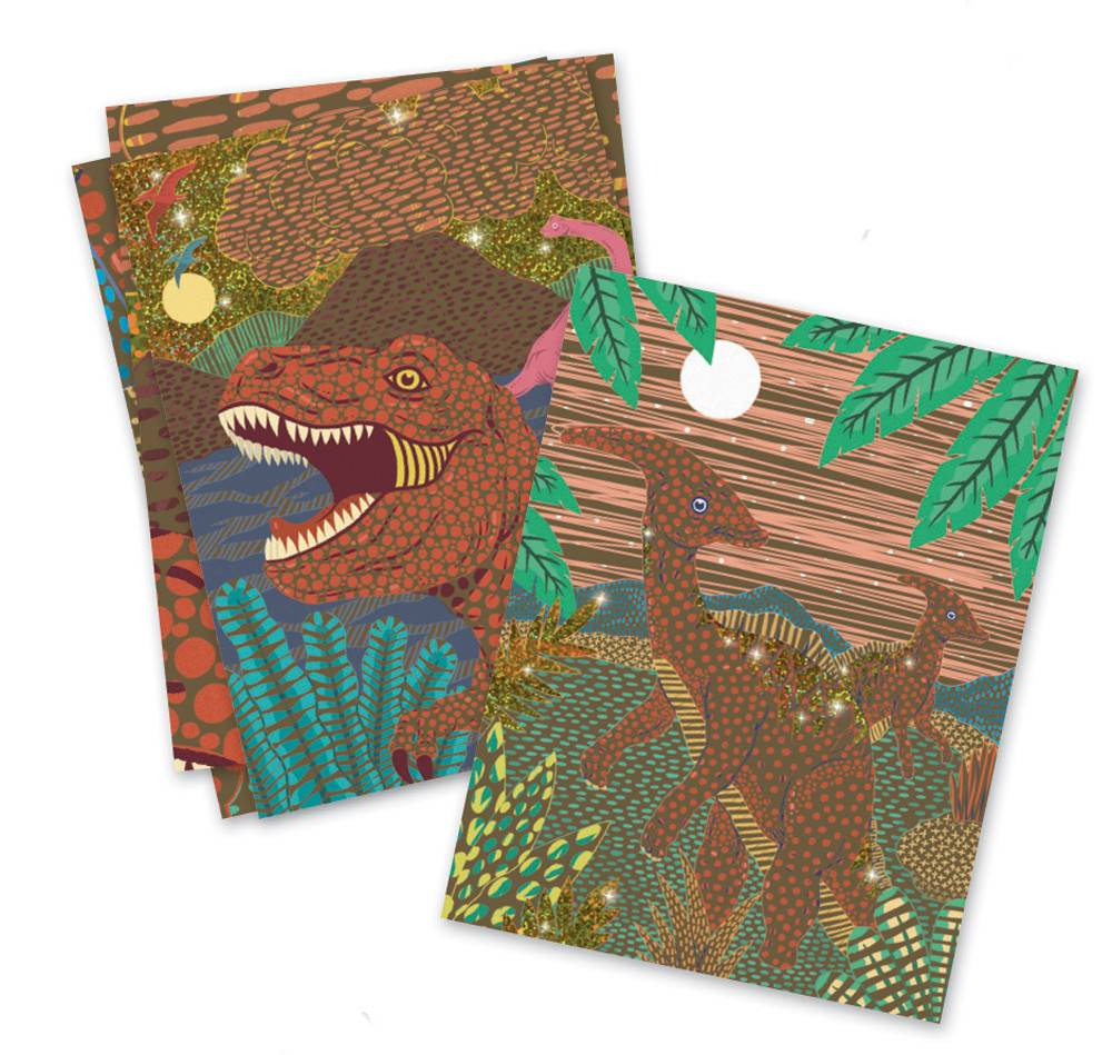 Djeco Djeco 09726 - When Dinosaurs Reigned - Scratch Cards