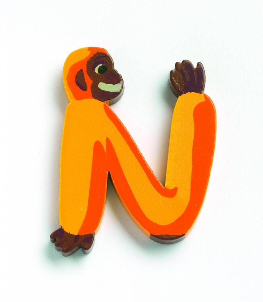 Djeco Djeco 04853 DECORATIVE ANIMAL LETTERS - N