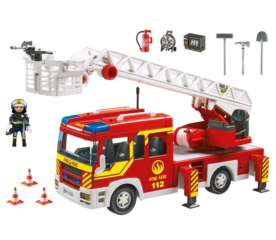 Playmobil Playmobil 5362 Camion de Pompiers avec Échelle Pivotante