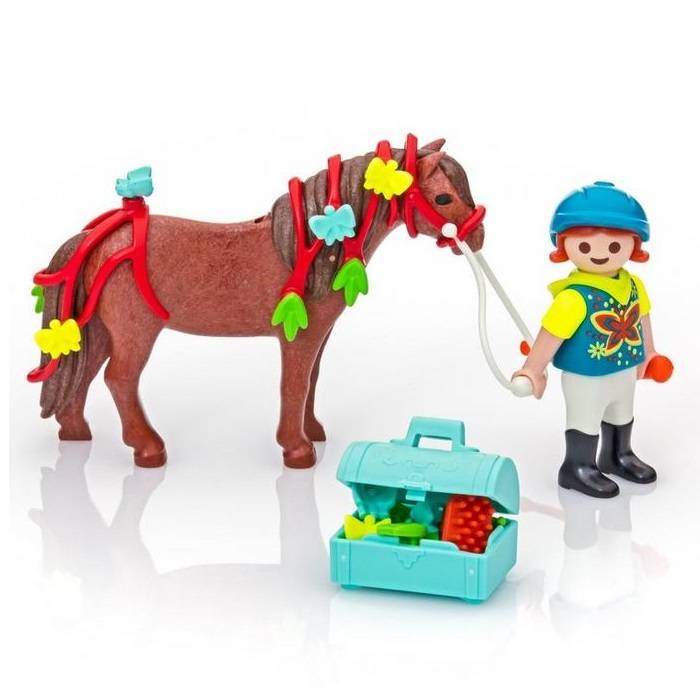 Playmobil Groomer with Butterfly Pony