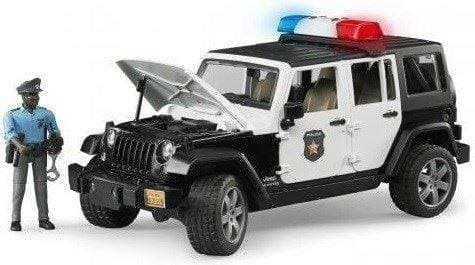 Bruder Bruder Jeep Wrangler Unlimited Rubicon Police vehicle with policeman and accessories