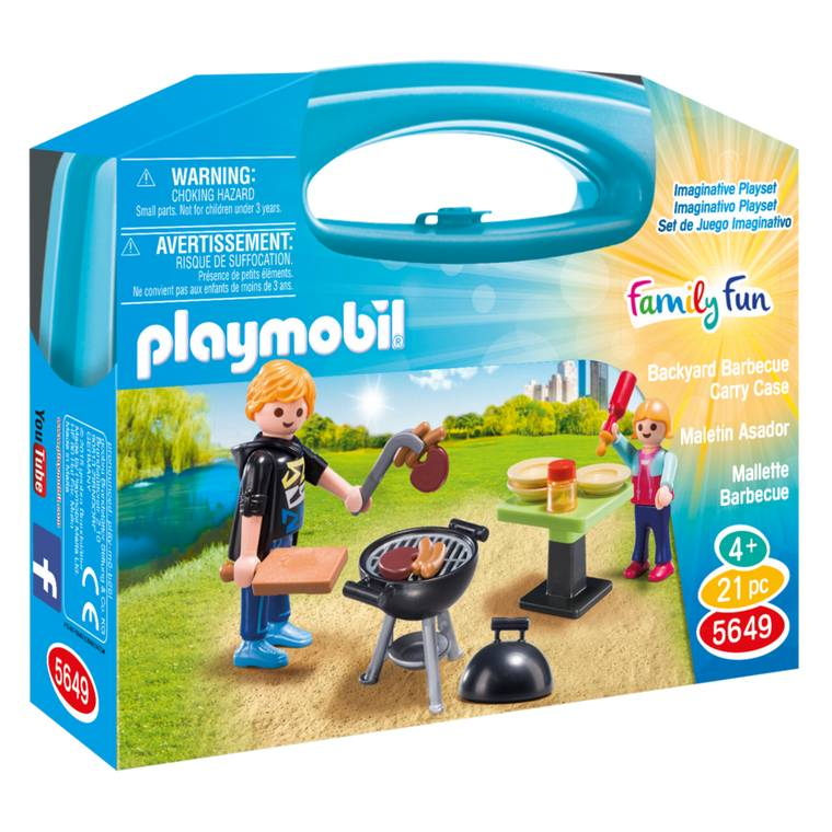 Playmobil Playmobil 5649 Backyard Barbecue Carry Case