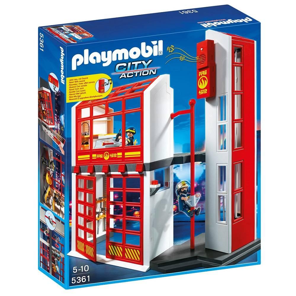 Playmobil Playmobil 5361 Caserne de Pompiers avec Alarme