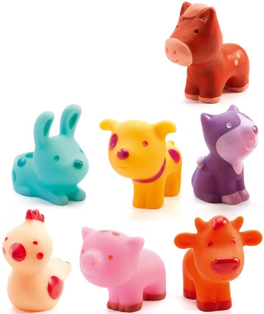Djeco Djeco 09116 - Troopo-farm - 7 animaux de la ferme