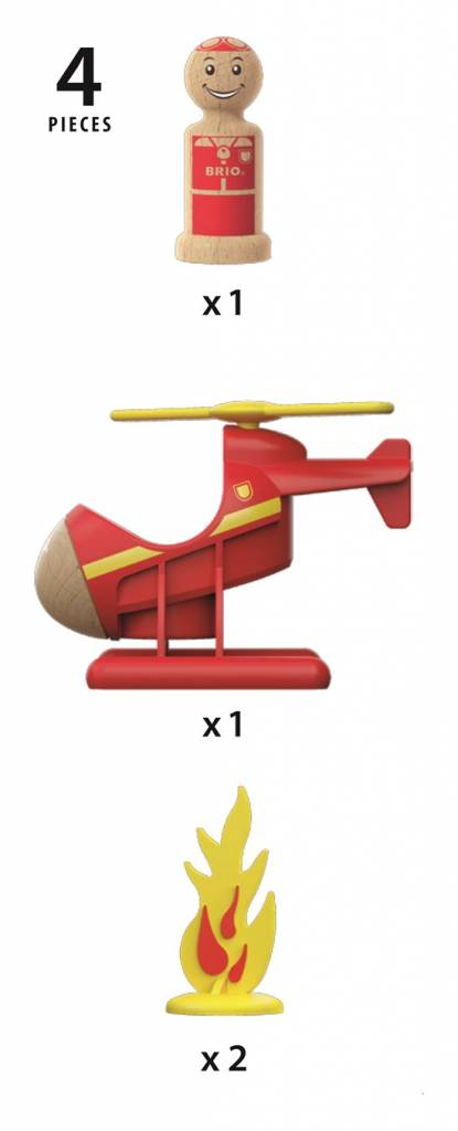 Brio BRIO 30337 - Hélicoptère de sauvetage