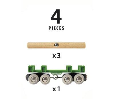 Brio BRIO 33696 - Wagon convoyeur de bois